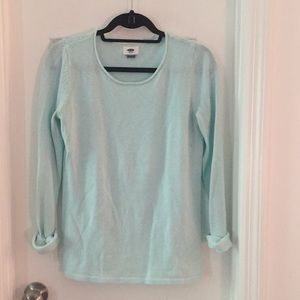 Old Navy Aqua Lightweight Sweater